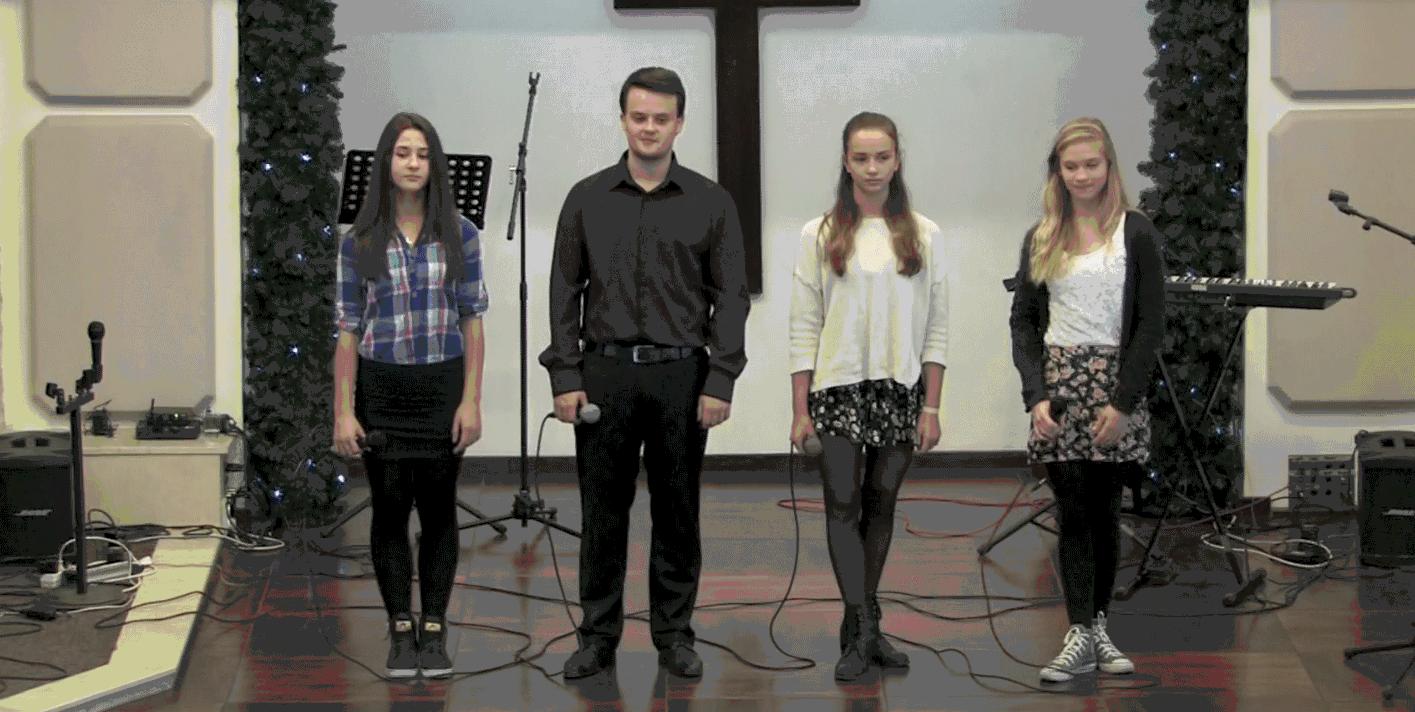 Выступление вокальной группы «Ангел мой» (рождественский концерт)
